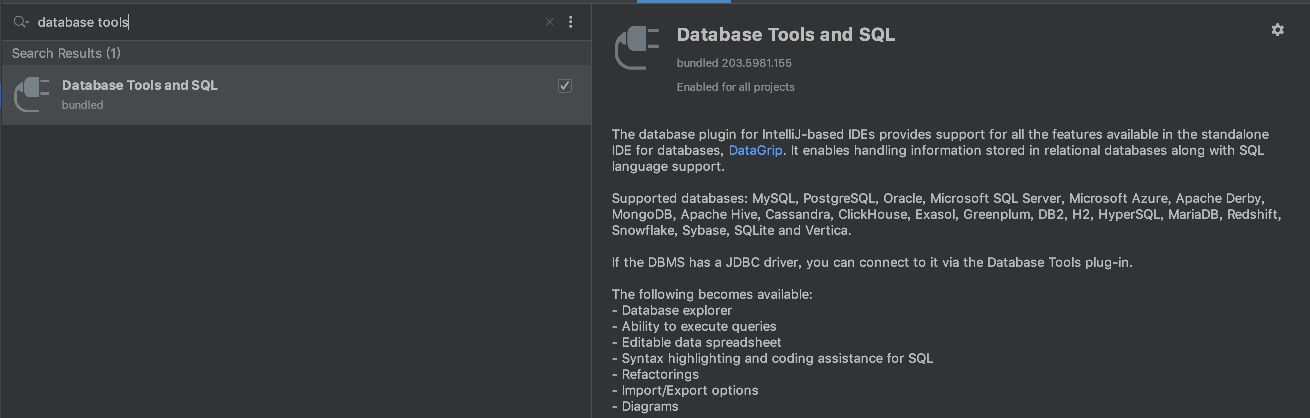 Database Tools and SQL