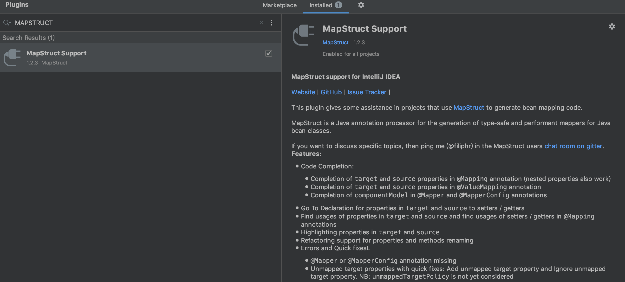MapStruct Support