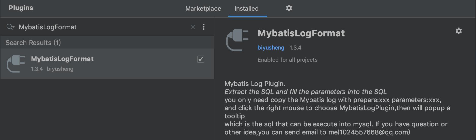MybatisLogFormat