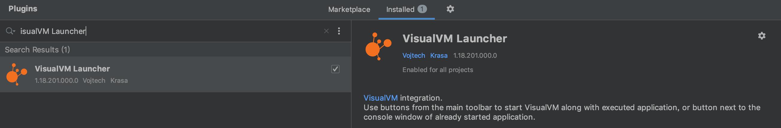 VisualVM Launcher