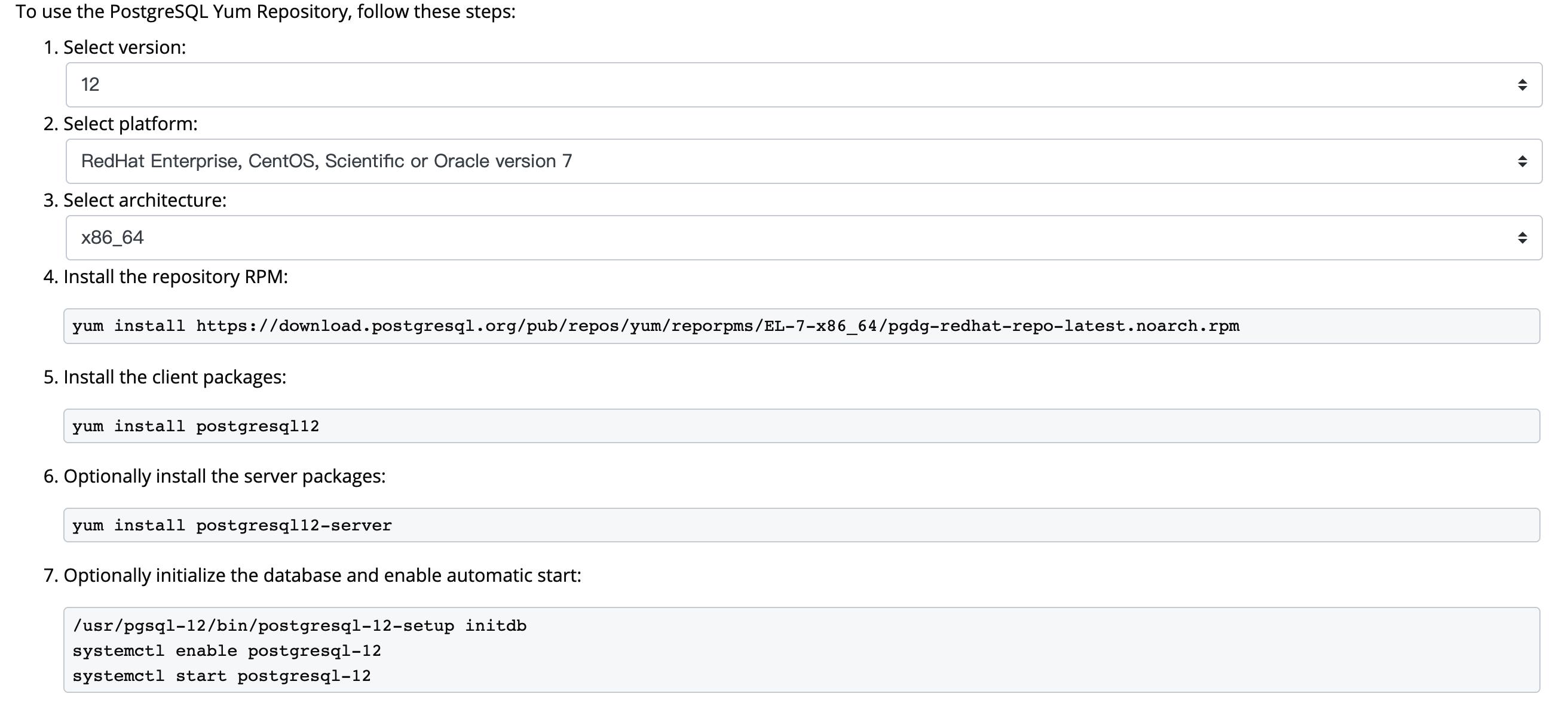 PostgreSQL 安装步骤