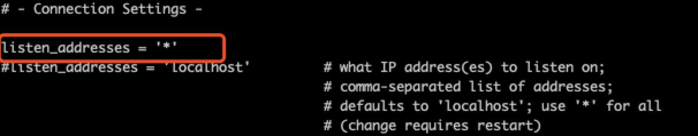 `/var/lib/pgsql/12/data/postgresql.conf` 配置文件(修改)