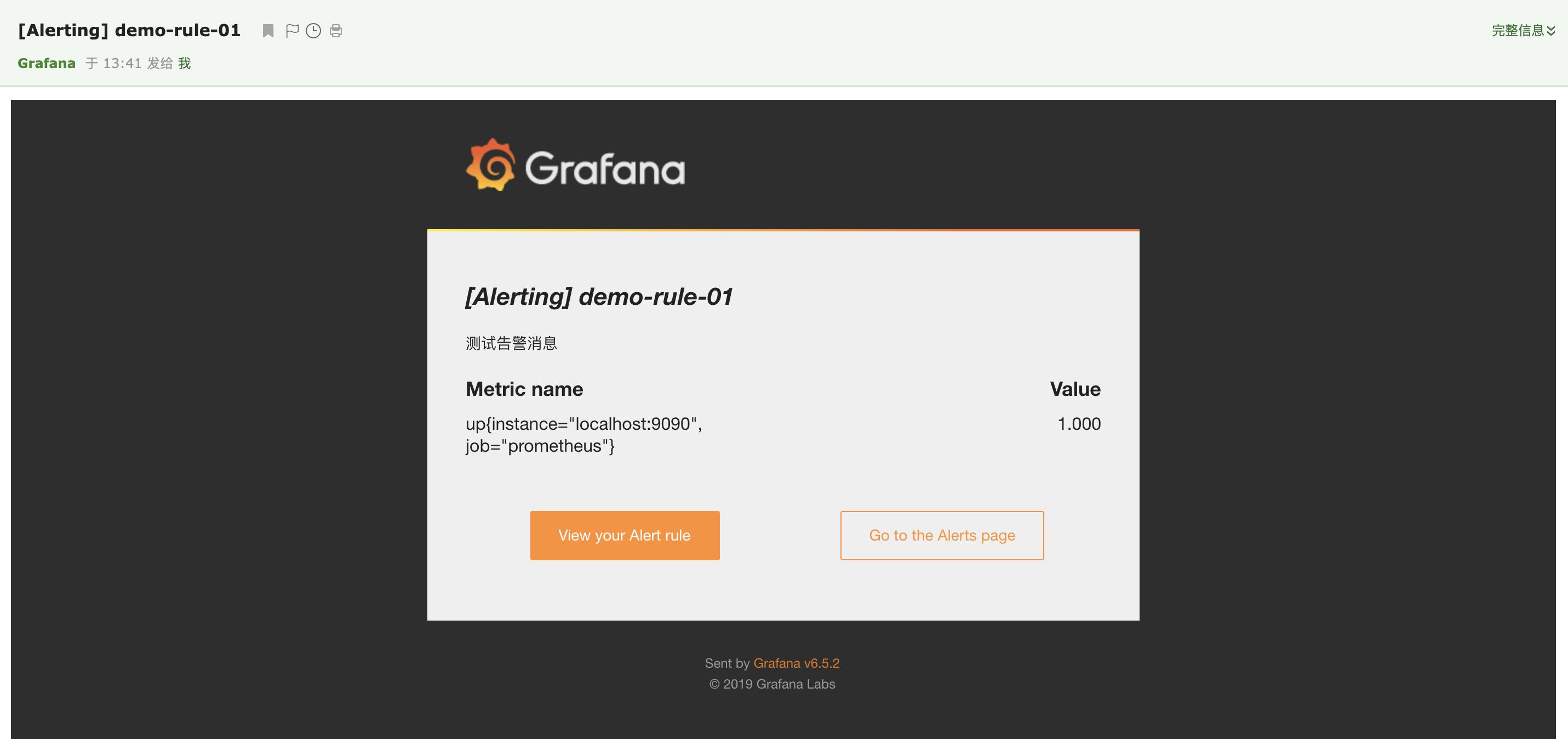 Grafana 邮件告警