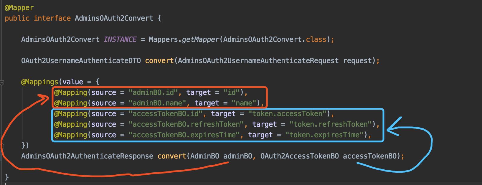 `@Mapping` 复杂示例