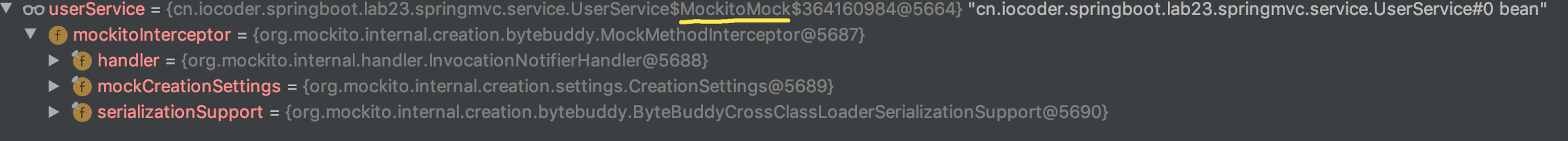 UserService Mock 代理对象