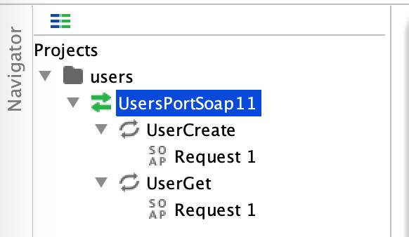 SoapUI 主界面 —— SOAP 示例
