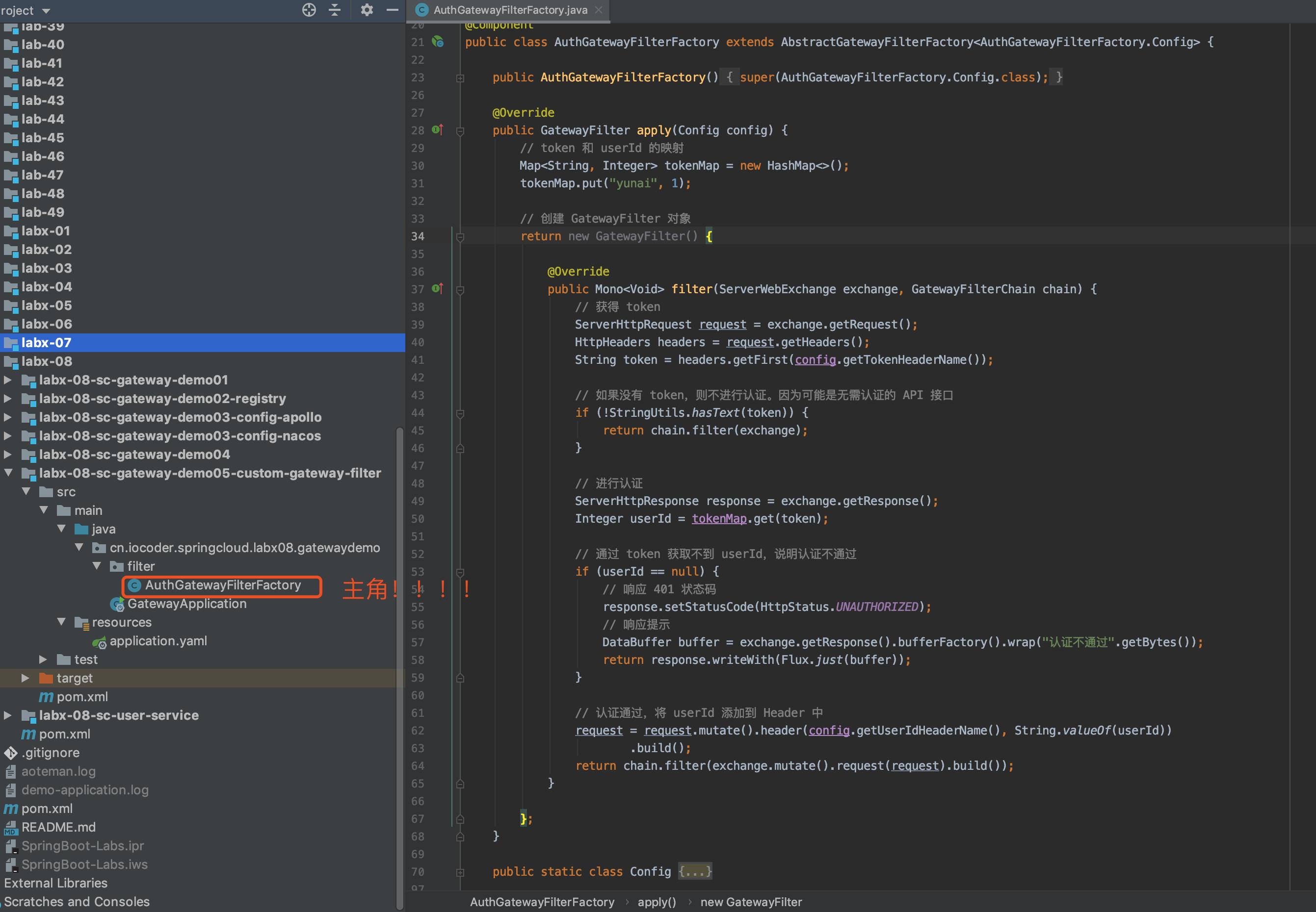 `labx-08-sc-gateway-demo05-custom-gateway-filter` 项目