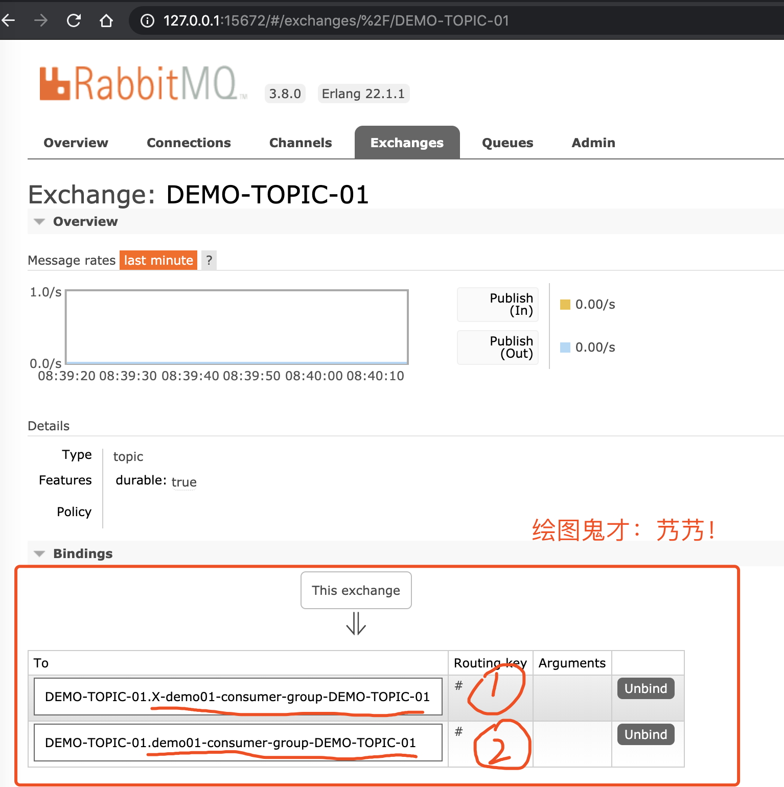`DEMO-TOPIC-01` 的 Exchange