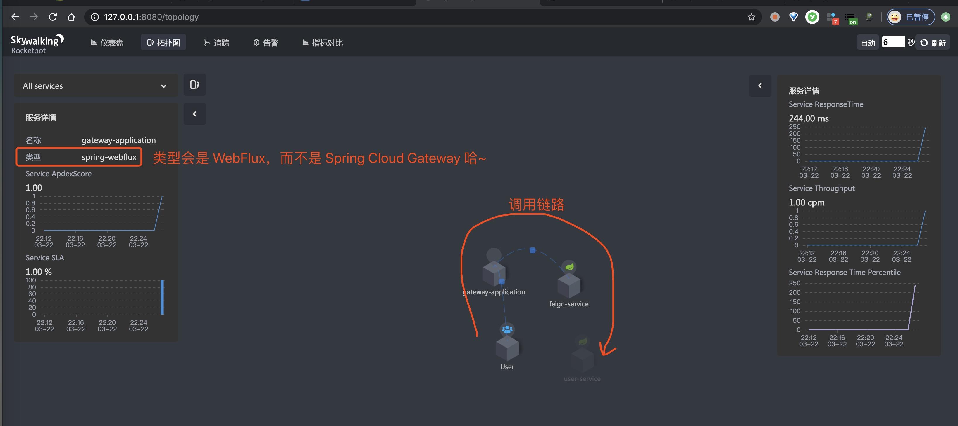 SkyWalking UI 界面 —— 拓扑图