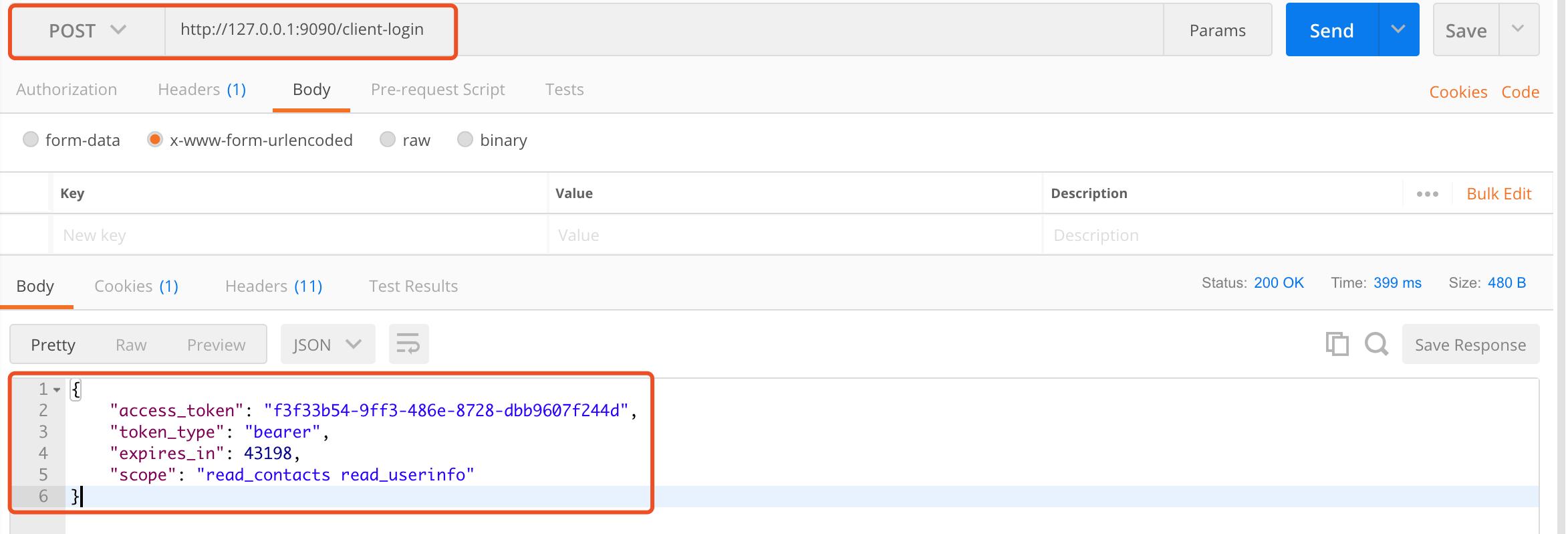 测试 `client-login` 接口